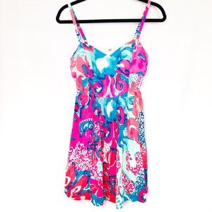Lilly Pulitzer Blue Christine Sundress Coral Reef